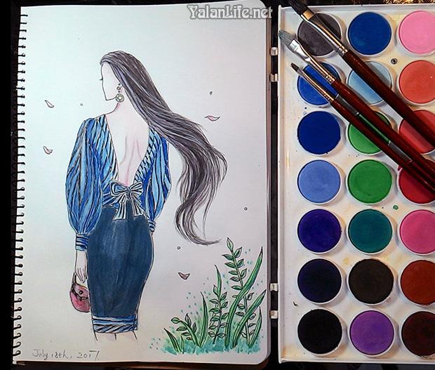 Taipei Life Fashion Illustration Watercolour Romanticism 台北生活 时尚插画 水彩 浪漫主义 Yalan雅岚文艺博客